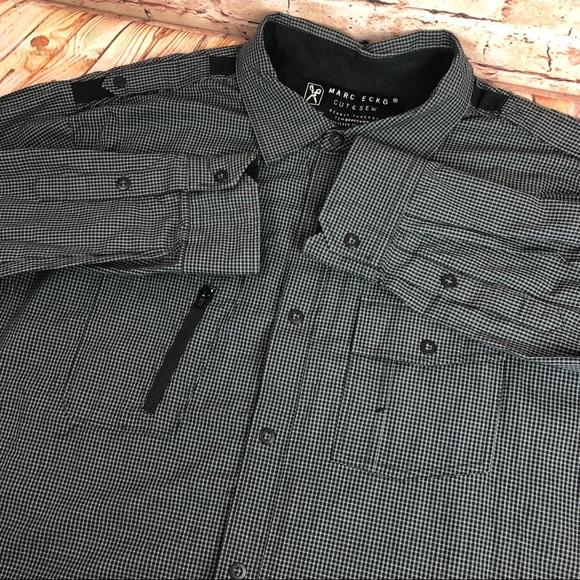 Marc Ecko Cut & Sew Snap Button Front Dress Shirt